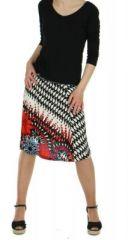 Jupe courte originale rouge imprim�e ethnique fashion 245878