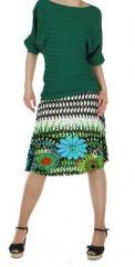 Jupe courte originale verte imprim�e ethnique fashion 245877