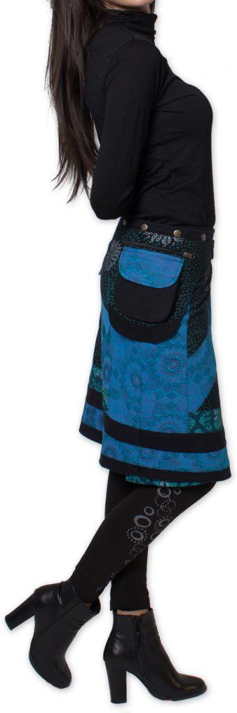 Jupe d'hiver réglable Ethnique et Originale Mississipi Bleue 276327
