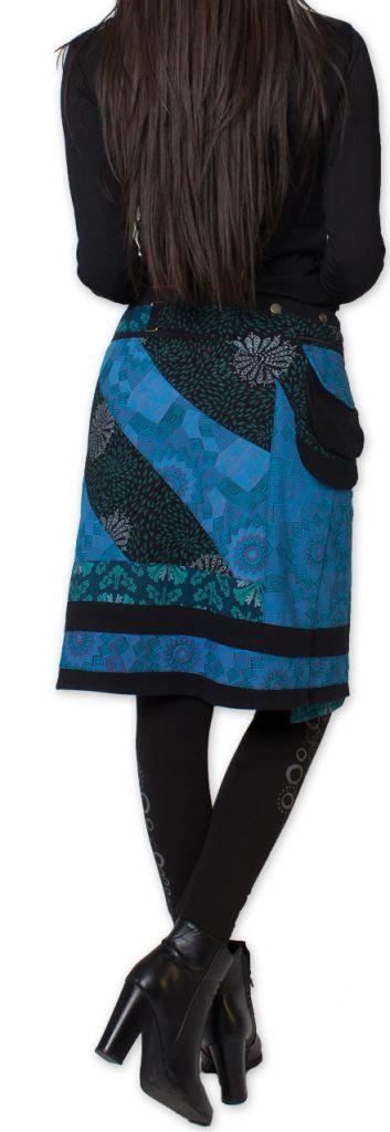 Jupe d'hiver réglable Ethnique et Originale Mississipi Bleue 276328