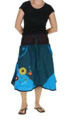 Jupe ethnique originale bleue Diamont 263832