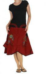 Jupe ethnique originale rouge Floflo n-2 263828