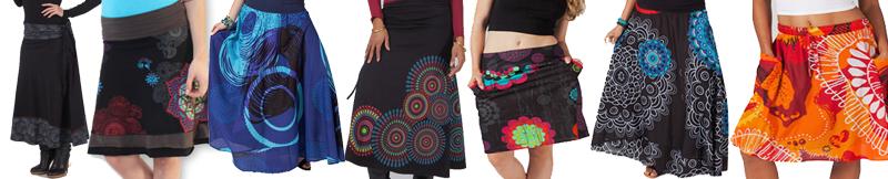 jupe courte ou longue noire ou colore avec un style original pas chre - Jupe Colore
