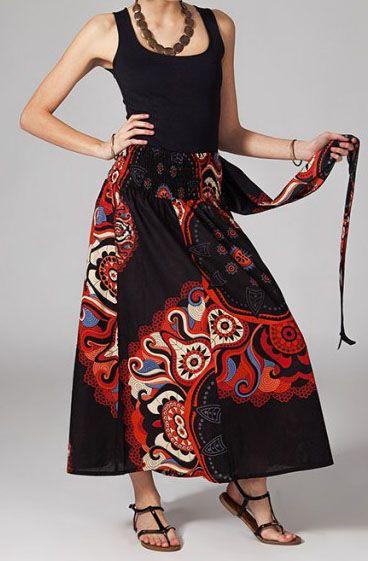 Jupe longue 2en1 transformable en robe Béatrice 269276