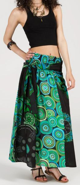 Jupe longue 2en1 transformable en robe-bustier Sarani n1 271385