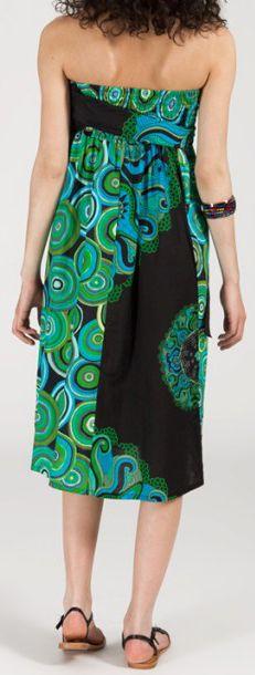 Jupe longue 2en1 transformable en robe-bustier Sarani n1