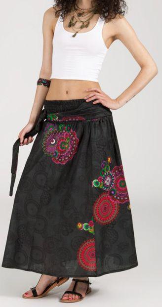 Jupe longue 2en1 transformable en robe-bustier Sarani n10 271424