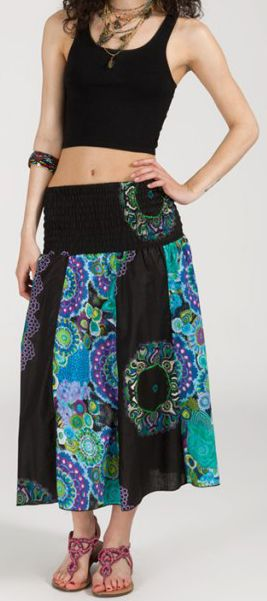 Jupe longue 2en1 transformable en robe-bustier Sarani n13 271435