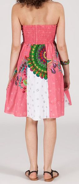 Jupe longue 2en1 transformable en robe-bustier Sarani n6
