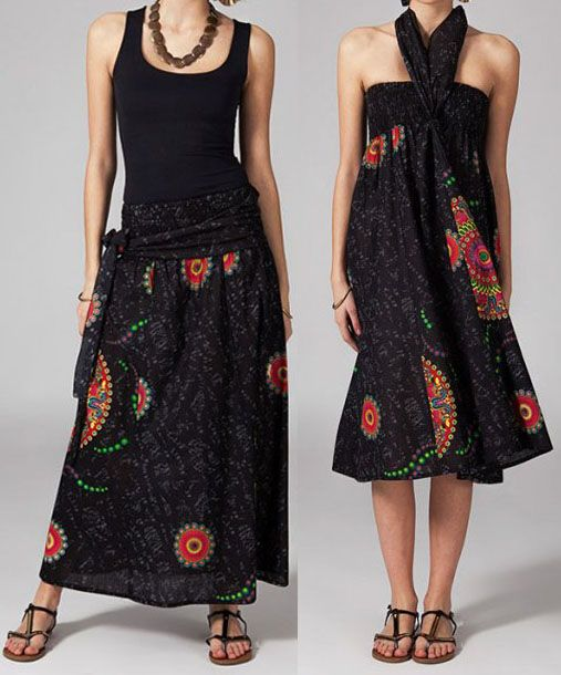 Jupe longue 2en1 transformable en robe Clarice 269306