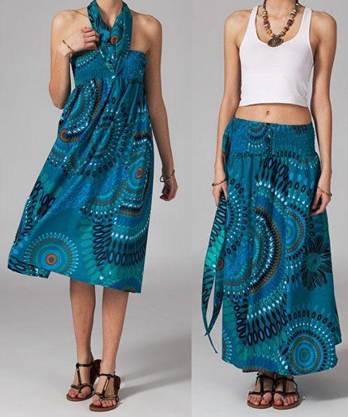 Jupe longue 2en1 transformable en robe Flora 269287