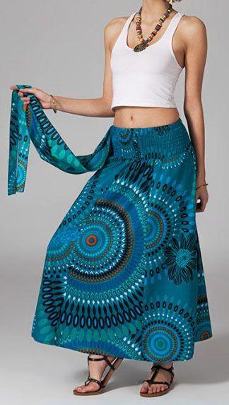 Jupe longue 2en1 transformable en robe Flora 269288