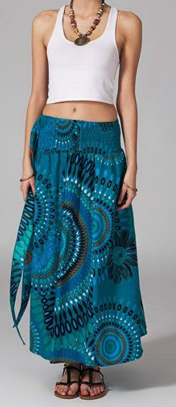 Jupe longue 2en1 transformable en robe Flora 269291