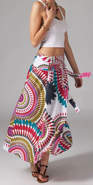 Jupe longue 2en1 transformable en robe Linda 269314
