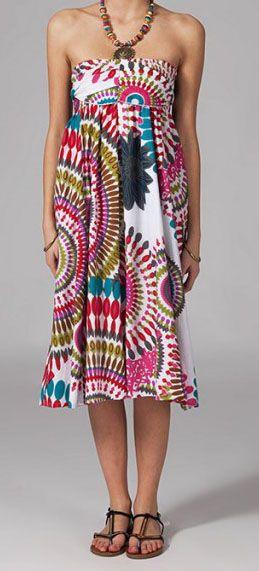 Jupe longue 2en1 transformable en robe Linda 269317