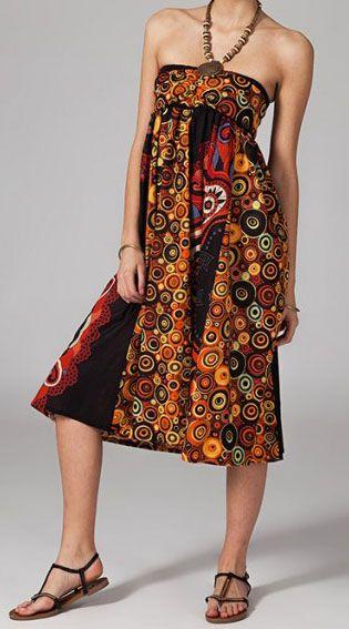 Jupe longue 2en1 transformable en robe originale Avy 269257