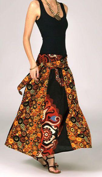 Jupe longue 2en1 transformable en robe originale Avy 269258
