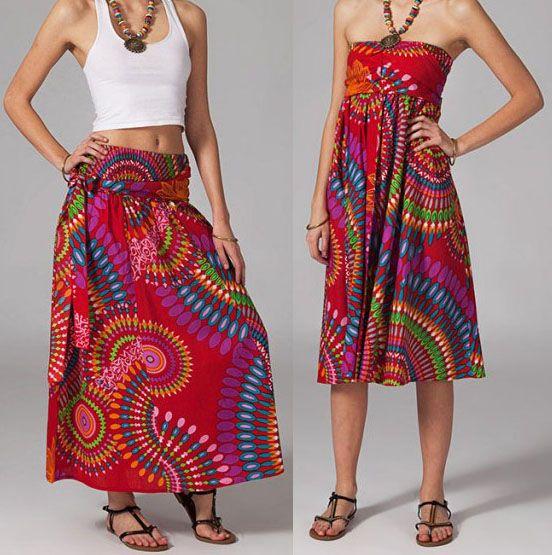 Jupe longue 2en1 transformable en robe Sabrina 269280