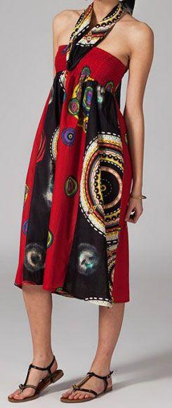 Jupe longue ethnique 2en1 transformable en robe Emma 269253