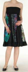 Jupe longue noire ethnique transformable 2en1 Elise 271145