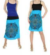 Jupe longue originale ou robe bustier 2en1 tikida bleu 245570