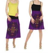 Jupe longue originale ou robe bustier 2en1 tikida violette 245569