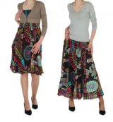 Jupe longue originale ou robe bustier zypcy noir 245722