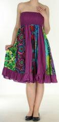 Jupe longue violette ethnique transformable 2en1 Elise 271148