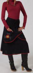 Jupe mi-longue Ethnique et Originale Loyane Noire 275025