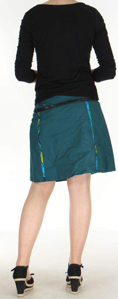 Jupe ou Surjupe courte très originale et colorée Bleue Pili 272807