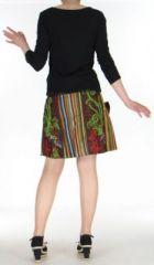 Jupe ou Surjupe courte très originale et colorée Marron Pili 272793