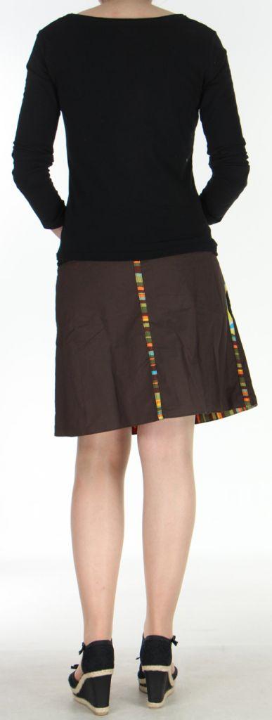 Jupe ou Surjupe courte très originale et colorée Marron Pili 272794