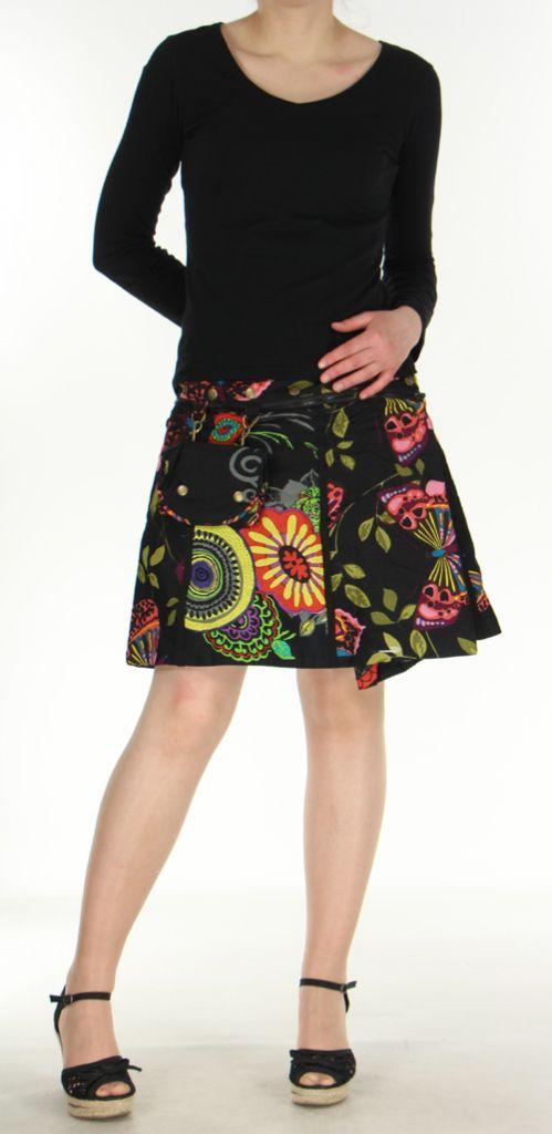 Jupe ou Surjupe courte très originale et colorée Noire Pili 272795