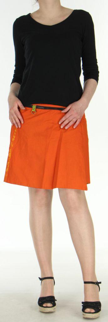 Jupe ou Surjupe courte très originale et colorée Orange Pili 272783