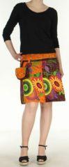 Jupe ou Surjupe courte très originale et colorée Orange Pili 272784