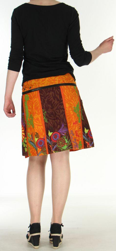 Jupe ou Surjupe courte très originale et colorée Orange Pili 272785