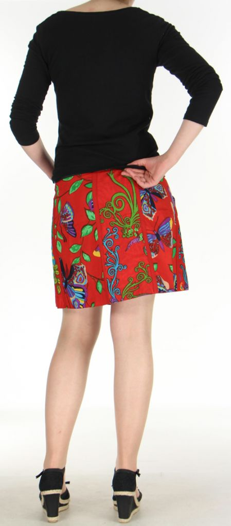 Jupe ou Surjupe courte très originale et colorée Rouge Pili 272789