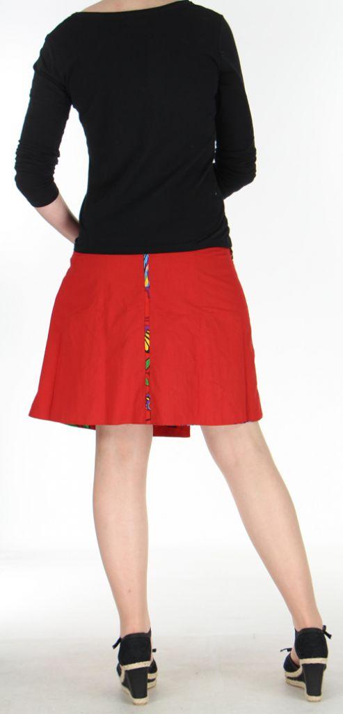 Jupe ou Surjupe courte très originale et colorée Rouge Pili 272790