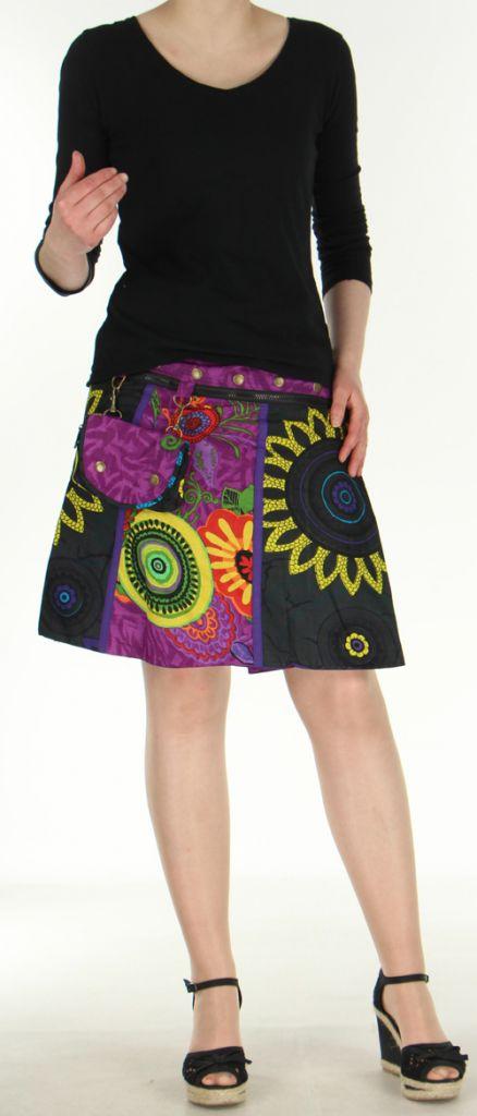 Jupe ou Surjupe courte très originale et colorée Violette Pili 272799