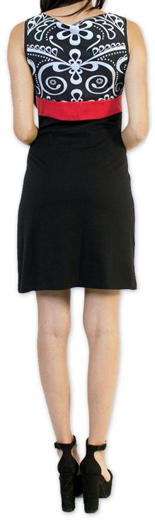 Légère et fluide robe courte et chic de soirée Noire Annela 273244