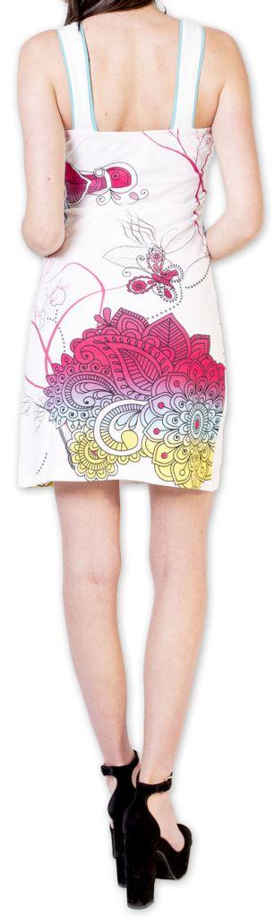 Magnifique robe courte chic et colorée Blanche Jess 273504