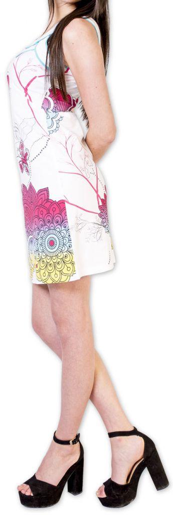 Magnifique robe courte chic et colorée Blanche Jess 273505