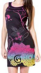 Magnifique robe courte chic et color�e Noire Jess 273495
