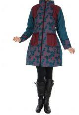 Manteau bordeaux femme original Khamsa 266535