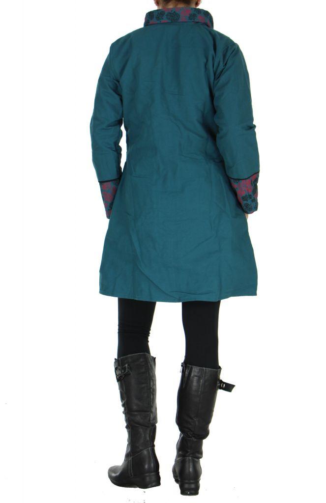 Manteau bordeaux femme original Khamsa 266536
