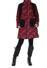 Manteau bordeaux femme original Khamsa 266537