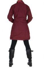 Manteau bordeaux femme original Khamsa 266538