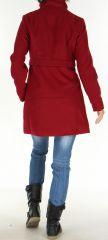 Manteau brodé Original et Coloré pour Femme Antarc Bordeaux 277665