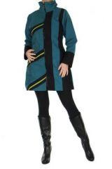 Manteau femme ananya bleu 266781