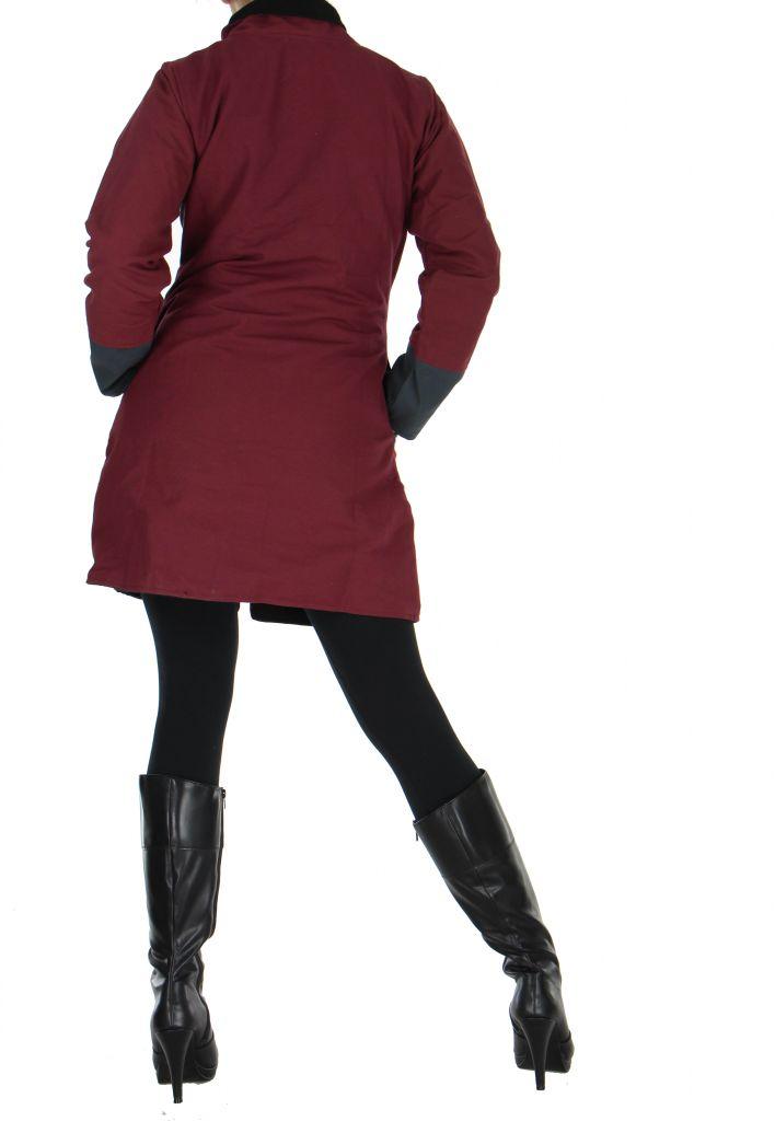 Manteau femme Ananya bordeaux 266786